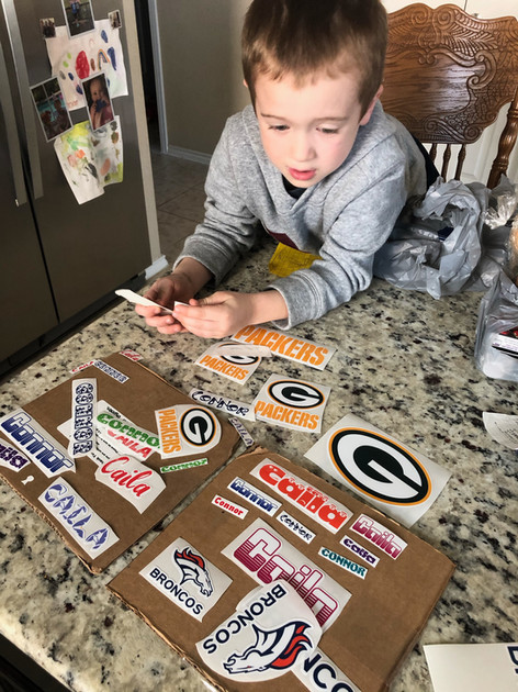 Connor And All His New Stickers