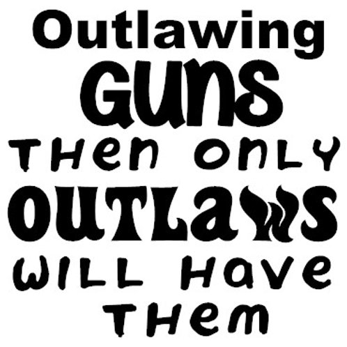 Out Lawing Guns Then Only Outlaws Will Have Them Decal