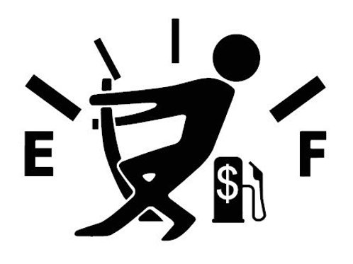 Gas Gauge - Guy Decal by Check Custom Design