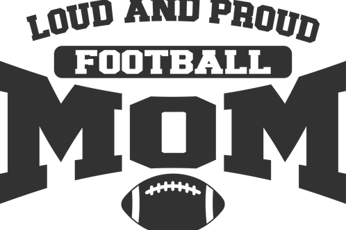 Loud And Proud Football Mom / Dad Decal by Check Custom Design