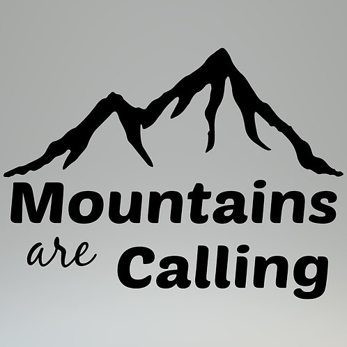 Mountains Are Calling Decal