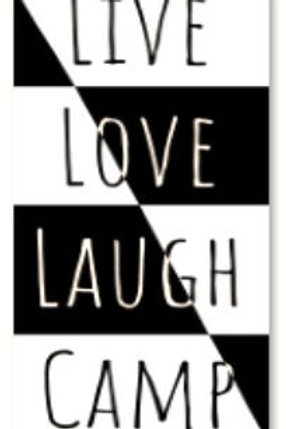 Live, Love, Laugh, Camp Decal