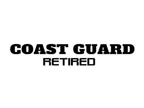 Retired Coast Guard Decal