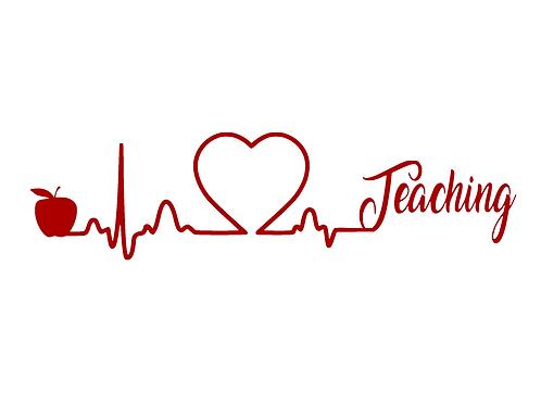 Teaching Heartbeat - Love Teaching Decal