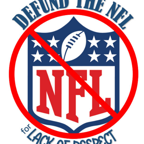 Defund the NFL Decal by Check Custom Design