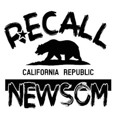 Recall Newsom California Flag Decal