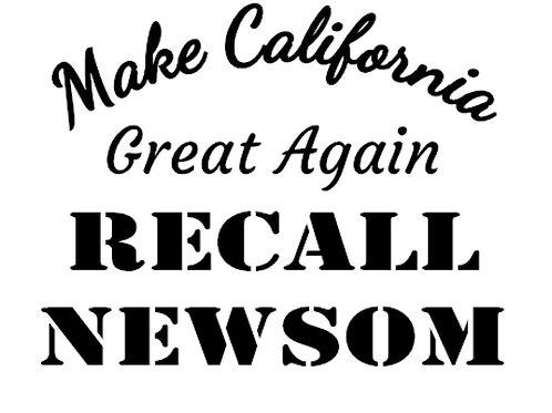 Make California Great Again - RECALL NEWSOM decal by Check Custom Design