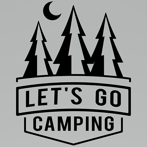 Lets Go Camping Decal by Check Custom Design
