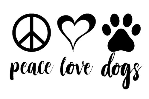 Peace - Love - Dogs Decal