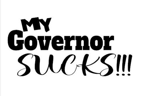 My Governor Sucks Decal