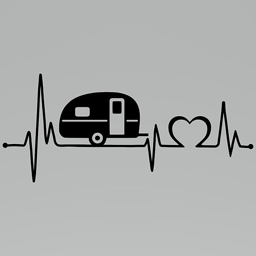 Heartbeat Camper Decal