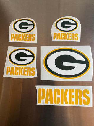 Custom Vinyl Packers Stickers