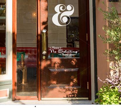 Window Decals and Custom Store door