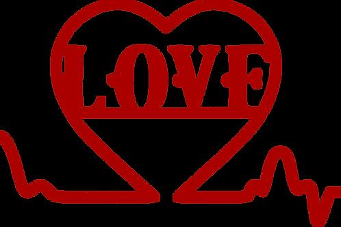 Teach Love Inspire Heartbeat Decal