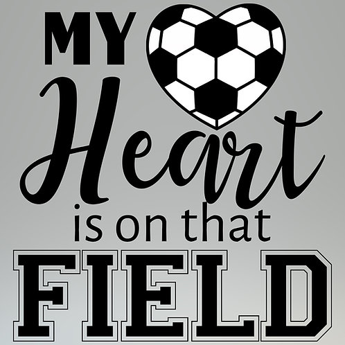 My Heart Is On The Field Decal