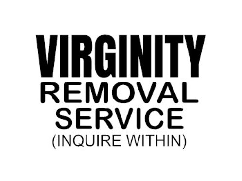 Virginity Removal Service Decal