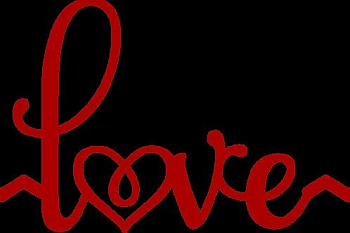 Love - Heart Decal