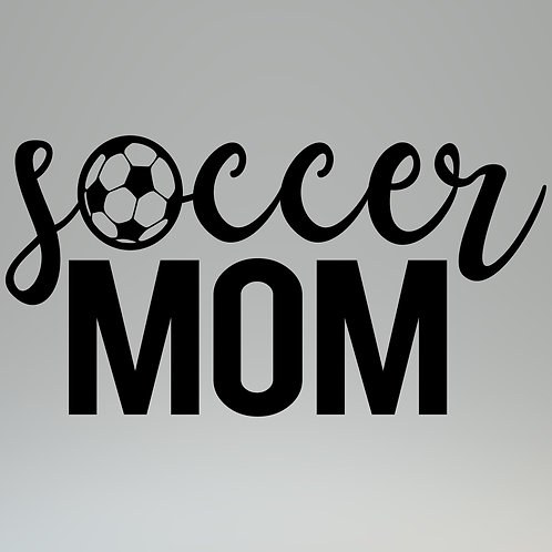 Soccer Mom W/Ball Decal