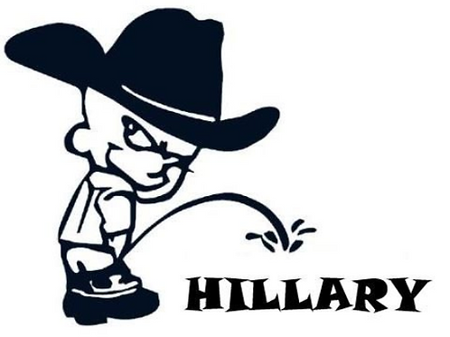 Piss on Hillary Decal by Check Custom Design