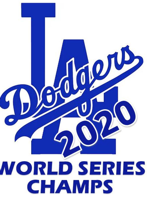 Los Angeles Dodgers World Series 2020 Decal