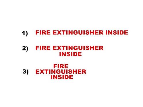 Fire extinguisher inside