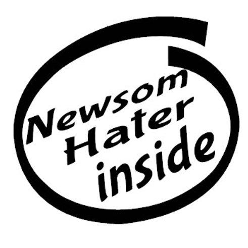 Newsom Hater Inside Decal