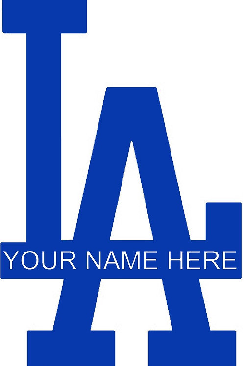 Personalized Los Angeles Dodgers Decal