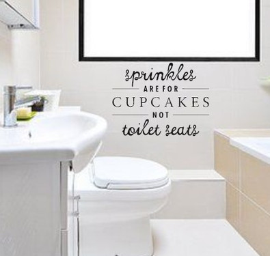 Window Decals and Custom Wall Designs In Bathroom