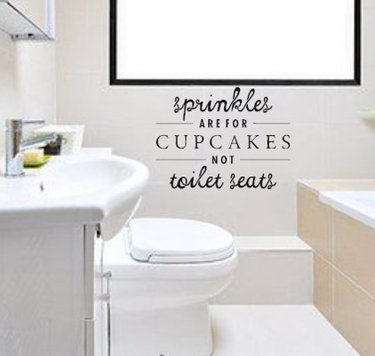 Window Decals and Custom Wall Designs In Bathroom
