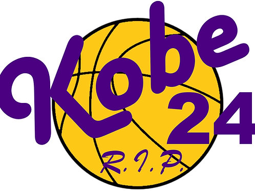 Kobe 24 R.I.P. Vinyl Sticker