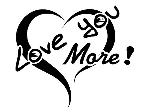 Love You More Decal by Check Custom Design