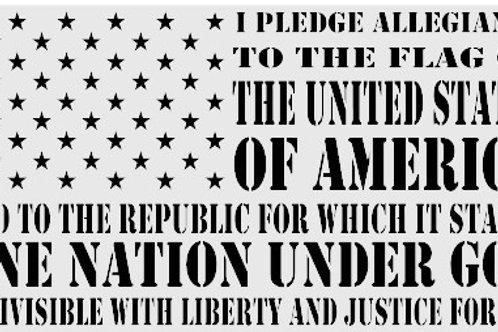 American Flag Pledge of Allegiance Decal