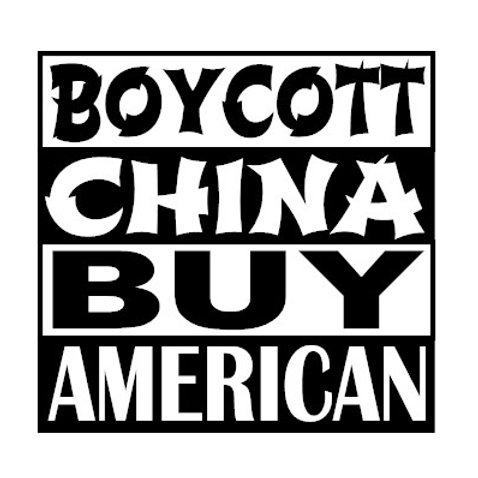 Boycott China Buy American Decal