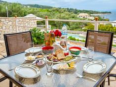 Exterior dinner tables
