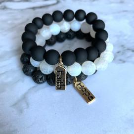 Black & White Bracelet Set