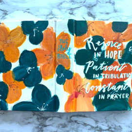 Teal & Orange Bible
