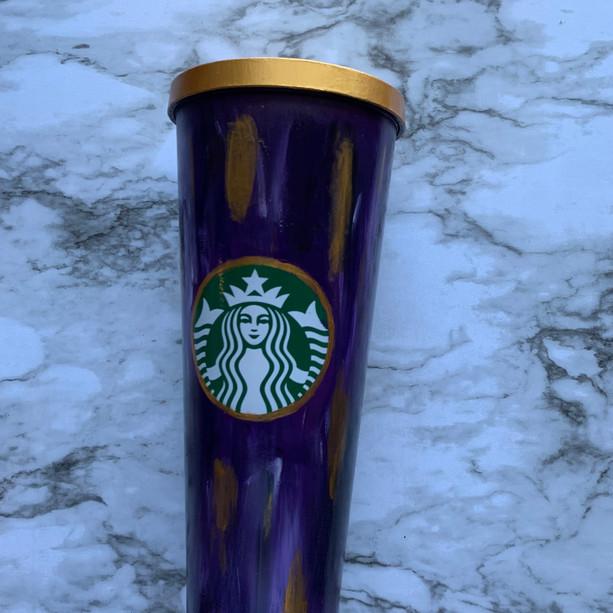 Purple & Gold Starbucks Tumbler