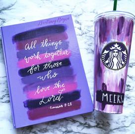 Purple Journal & Tumbler