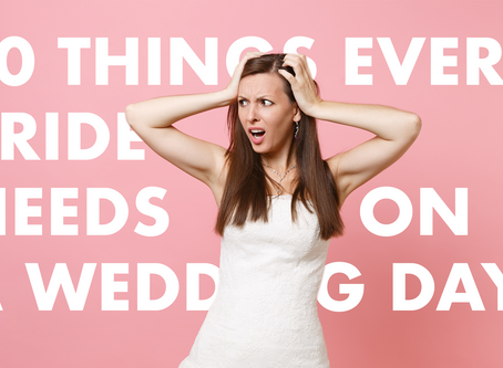 10 things you need in your Wedding day emergency kit!