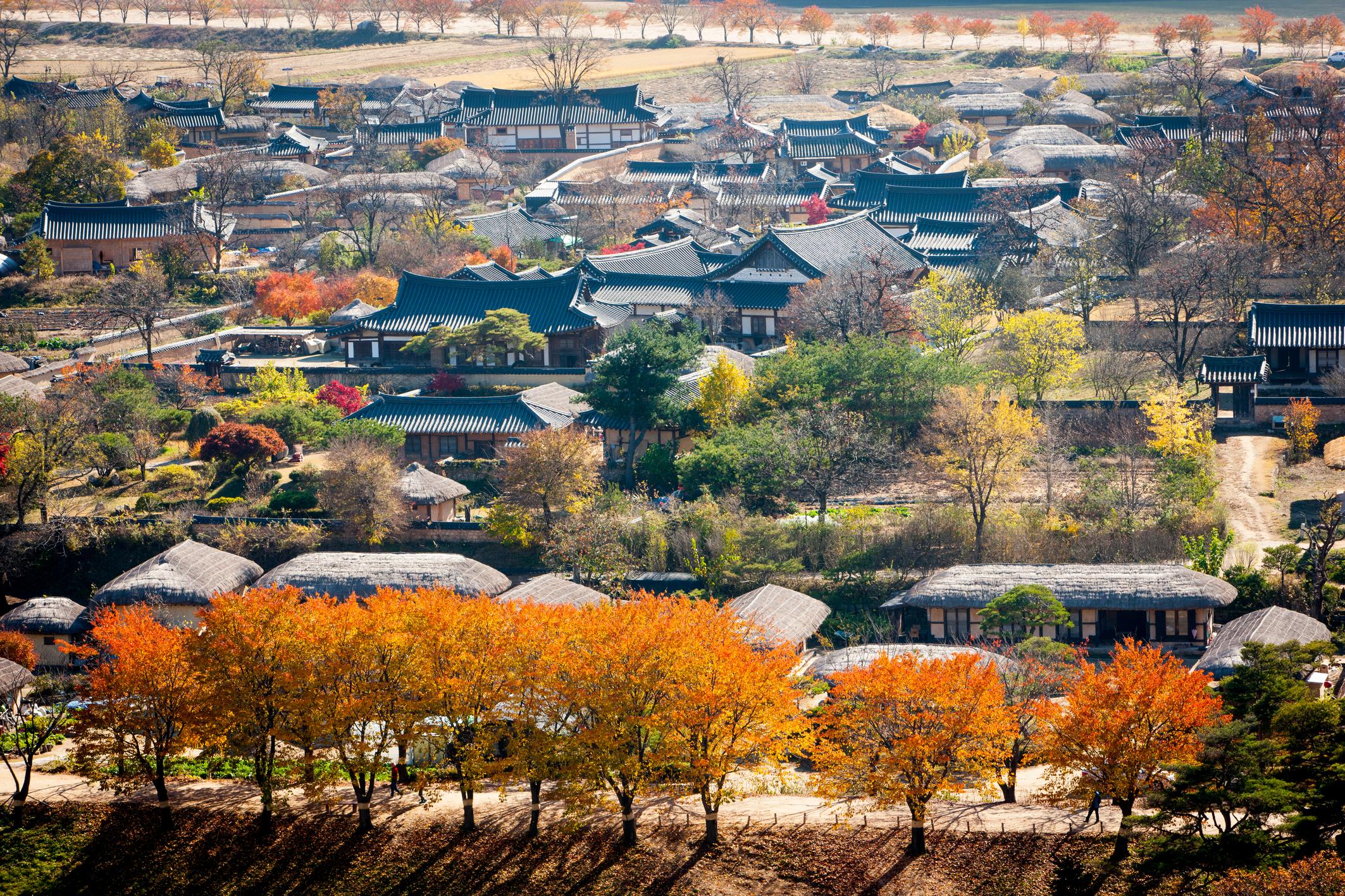 Andong Hahoe Village(Buyongdae)