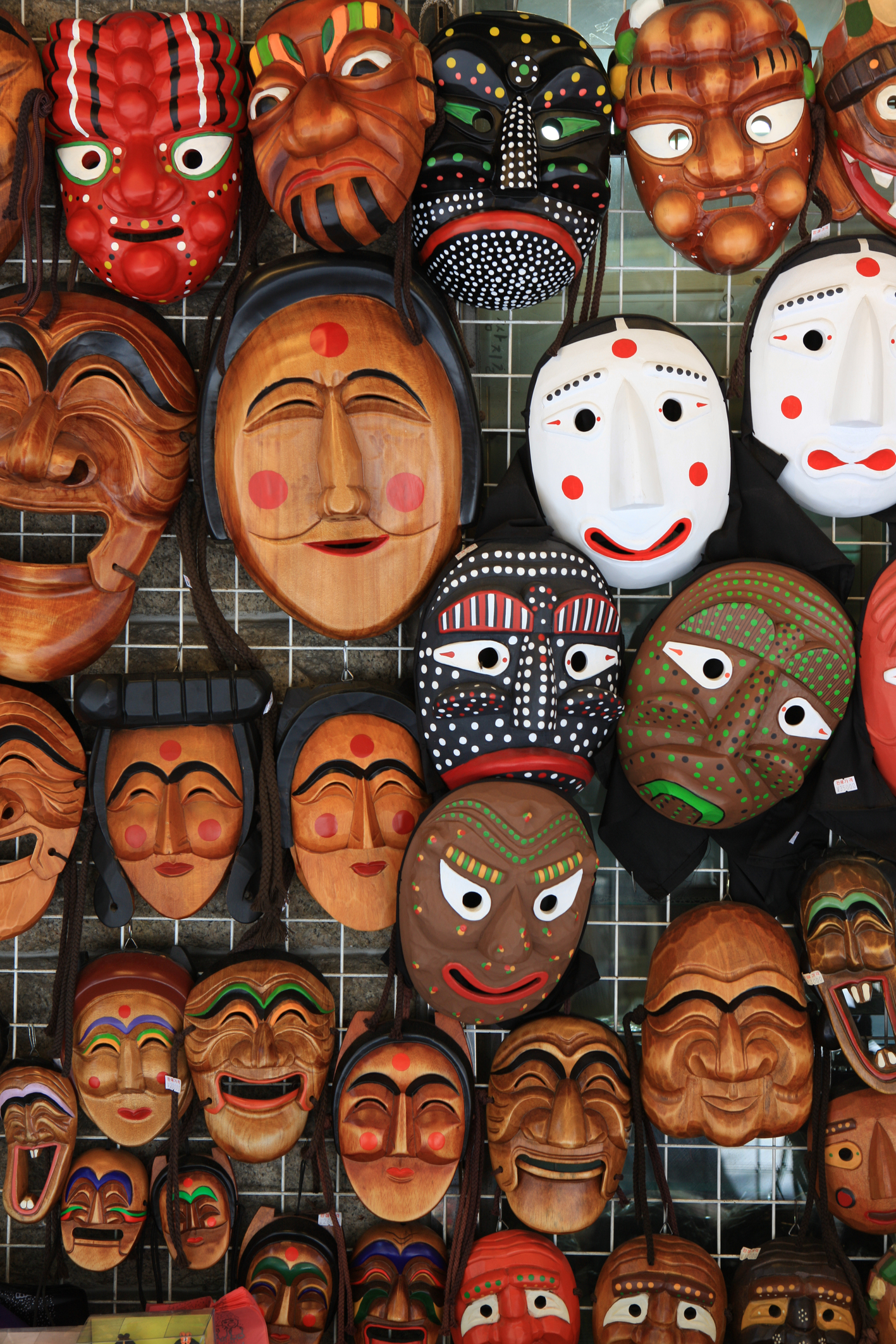 Traditional Masks in Insadong Market