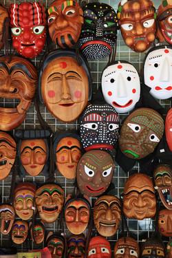 Traditional Masks in Insadong Market