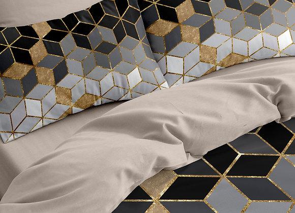 Комплект постельного белья Геометрия графит