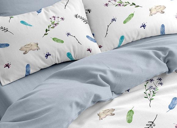 Комплект постельного белья Зайчик в поле