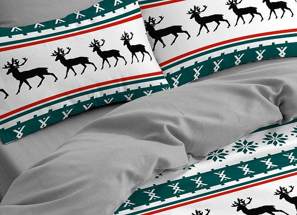 Комплект постельного белья Олени орнамент