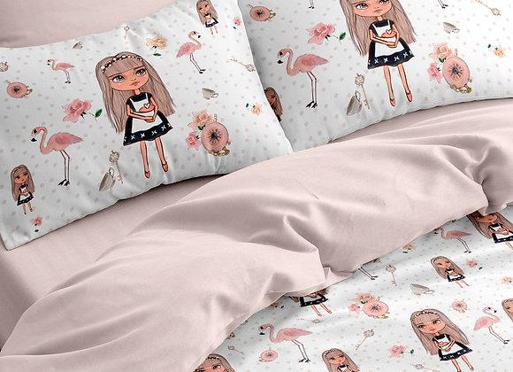 Комплект постельного белья Кукла в горошек