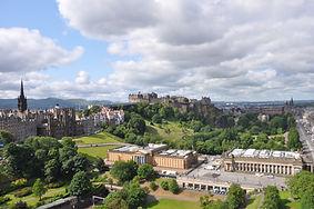 Edinburgh city centre panorama