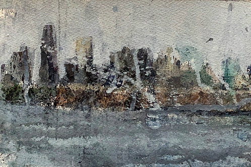 From the water, 6 x 9 inches