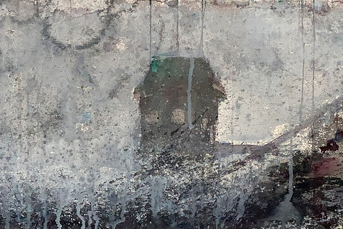 Gray House, 11 x 27 inches