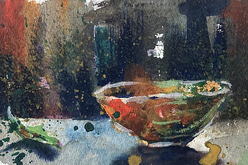 Red Bowl, 11 x 11 inches